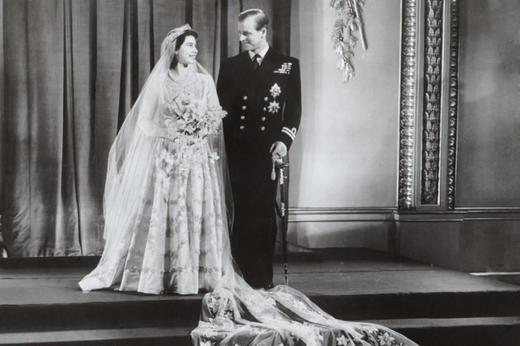 Royal Wedding Of Princess Elizabeth (queen Elizabeth II) & Prince Philip (duke Of Edinburgh) Wedding Day Portrait After Their Wedding On 20 November 1947