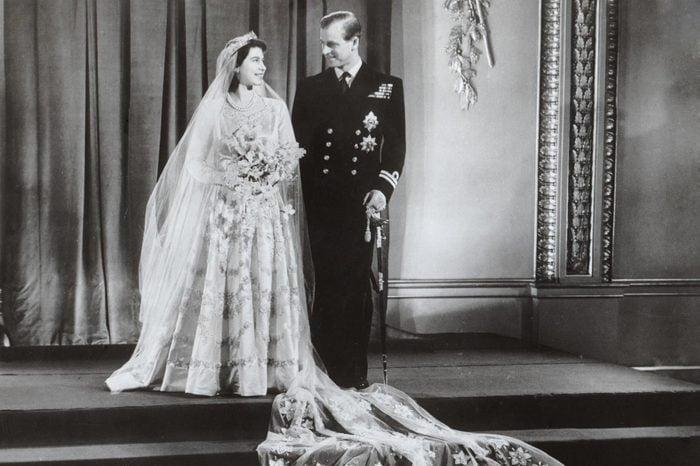 Royal Wedding Of Princess Elizabeth (queen Elizabeth II) & Prince Philip (duke Of Edinburgh) Wedding Day Portrait After Their Wedding On 20 November 1947