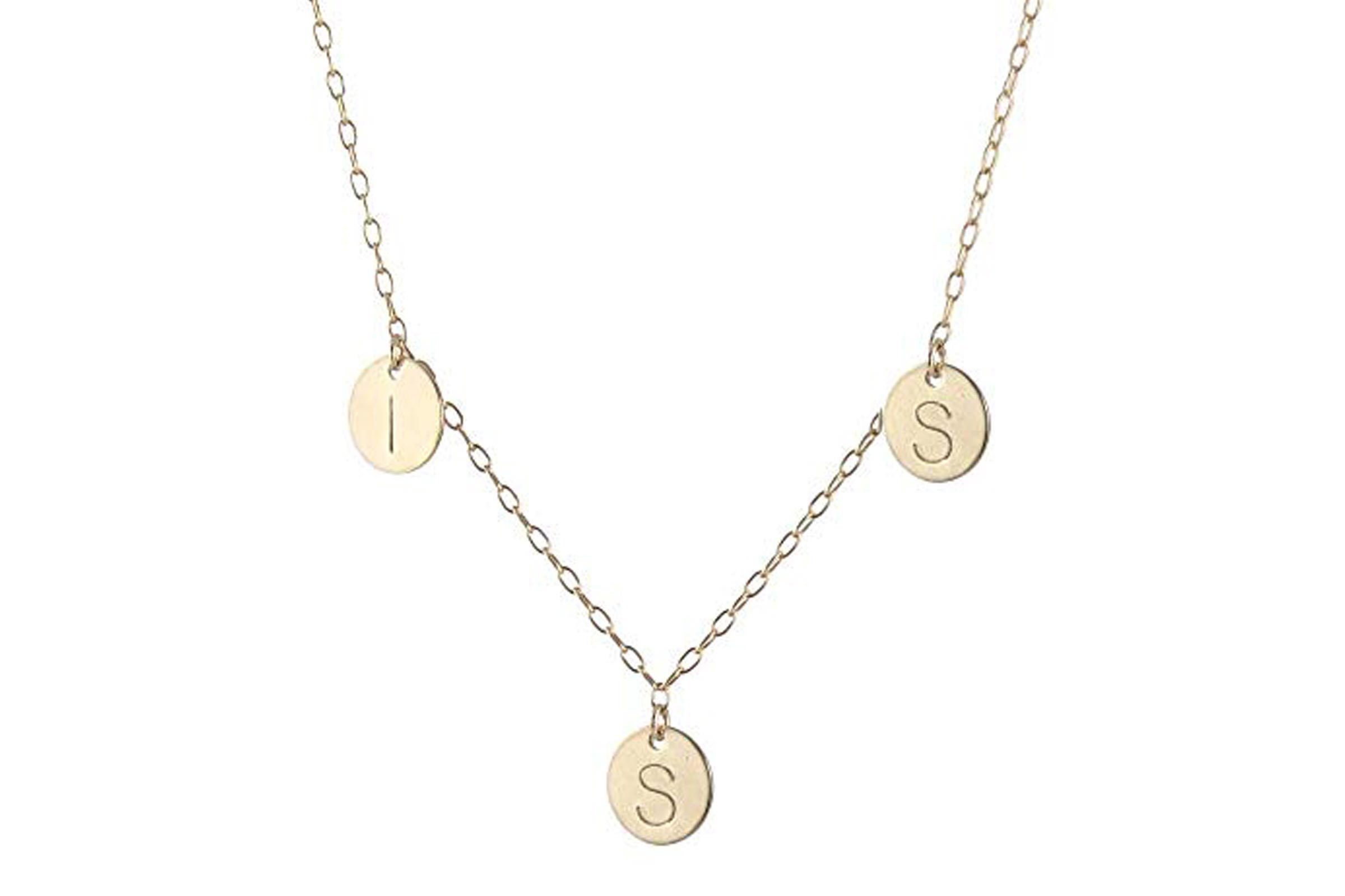 Family Initials Necklace - 14k gold-filled
