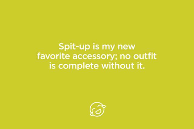 spit up is my new favorite accessory