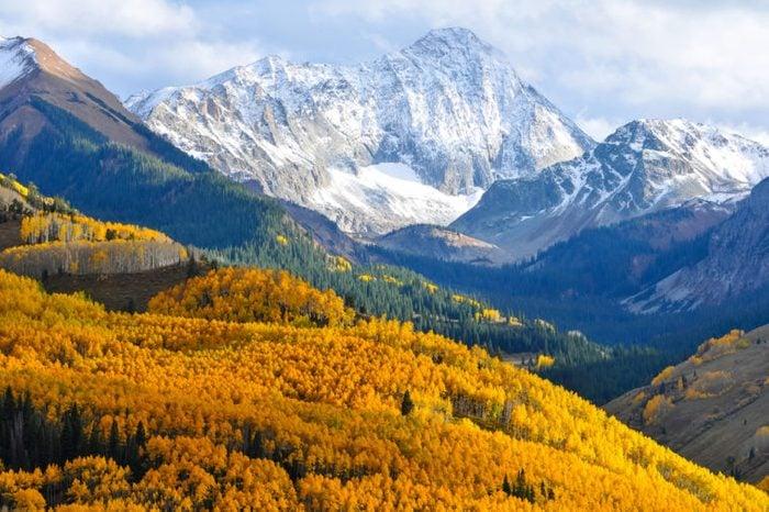 Capitol Peak, a distinctive 14,000' mountain in the Elk Mountains of Colorado