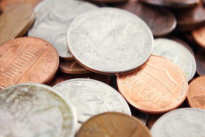 american coin closeup