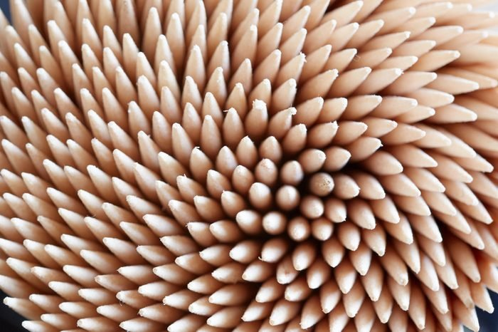 Wooden Toothpicks Close Up Background