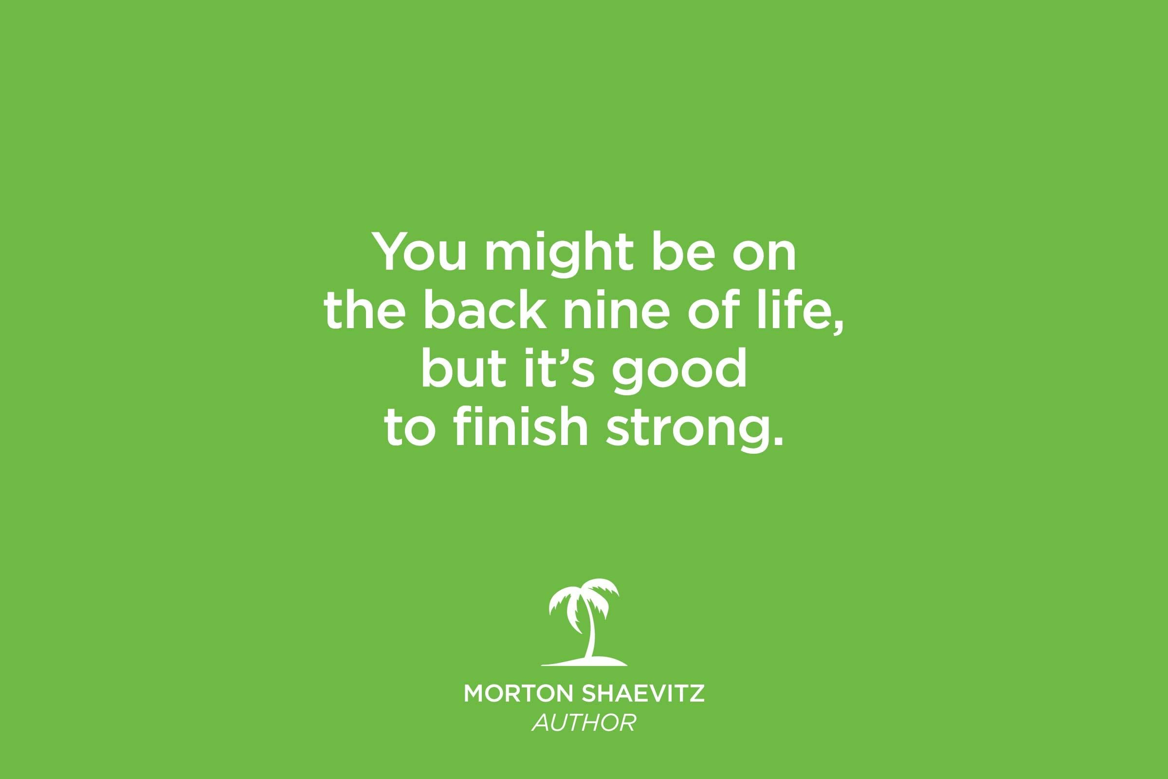 morton shaevitz quote
