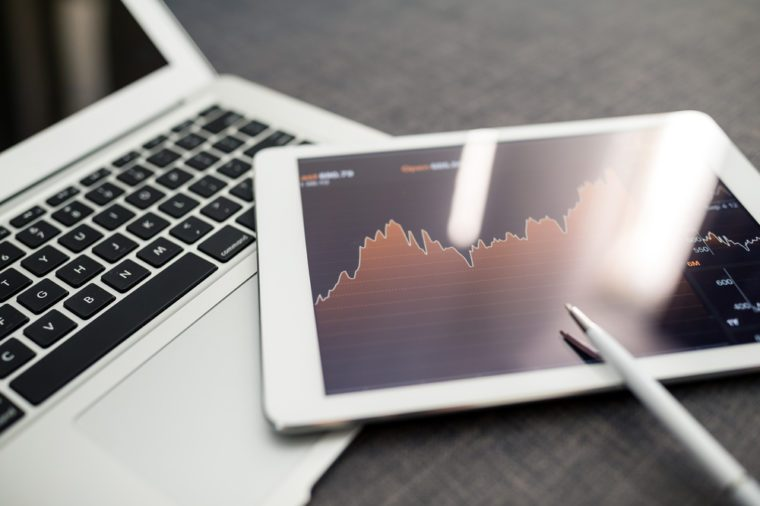 Stock market trading and research software on tablet PC