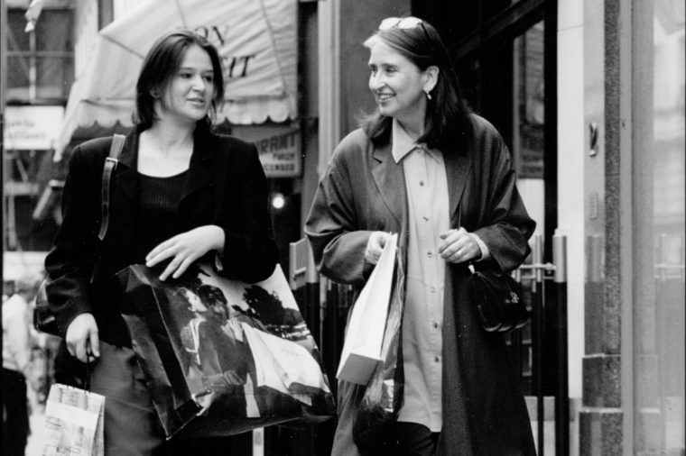 Daily Mail Journalist Lydia Slater With Her Mother On A Shopping Trip.