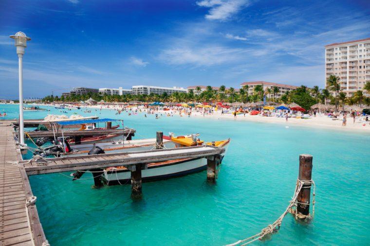 Palm Beach, Aruba, looking north toward Malmok Beach