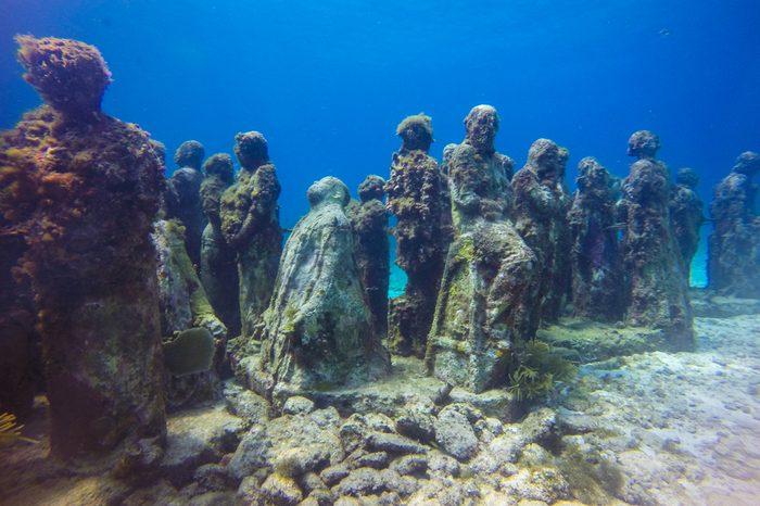 diving in the ocean. underwater