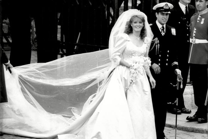 Prince Andrew And Sarah Ferguson Duke And Duchess Of York On Their Wedding Day At Westminster Abbey
