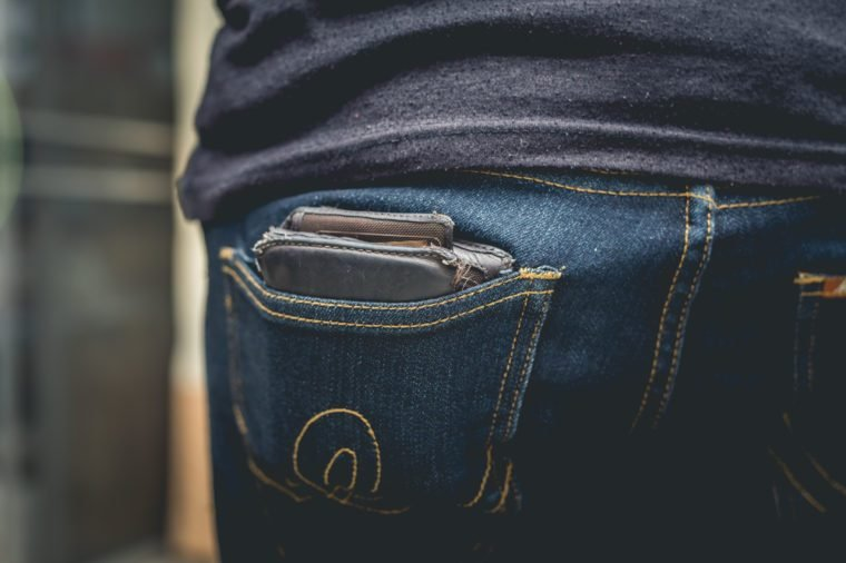wallet on jean pocket