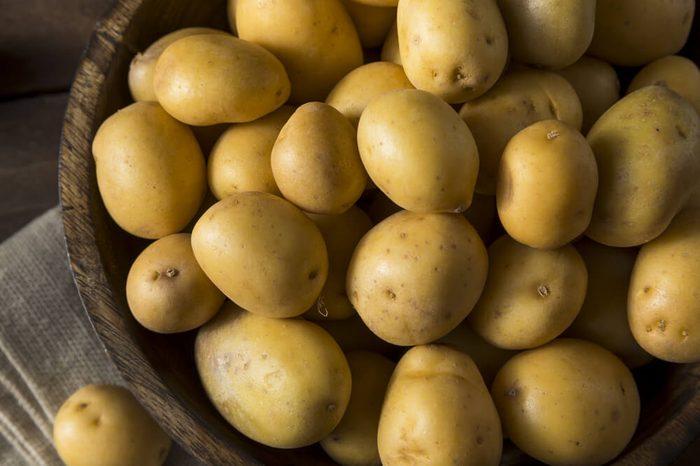 Raw Organic Baby Gold Potatoes Ready to Eat