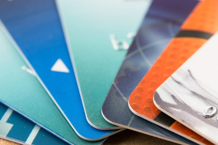 Many bank cards