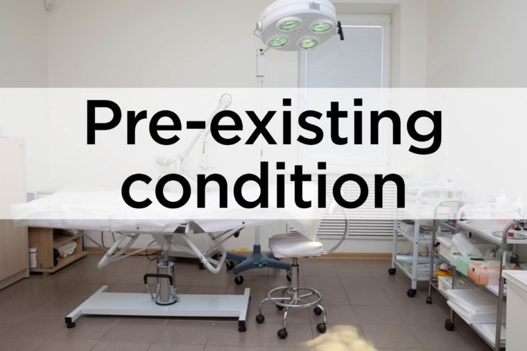 pre-existing conditions