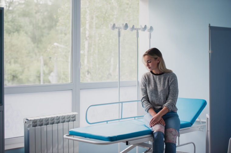 Woman waiting for doctor in hospital