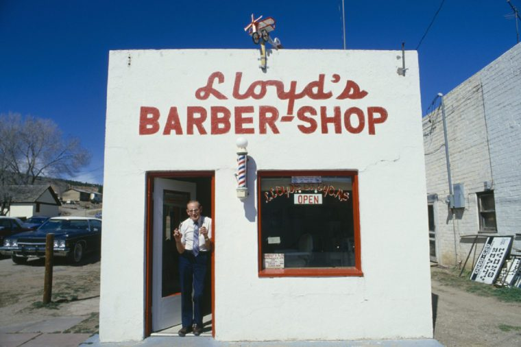 Small-town barbershop, Lyons, CO