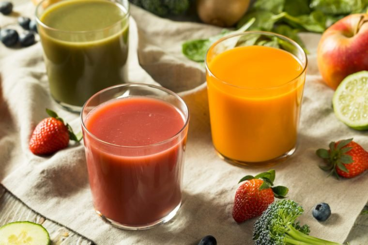 Raw Organic Healthy Detox Juices made from Fruit and Vegetables