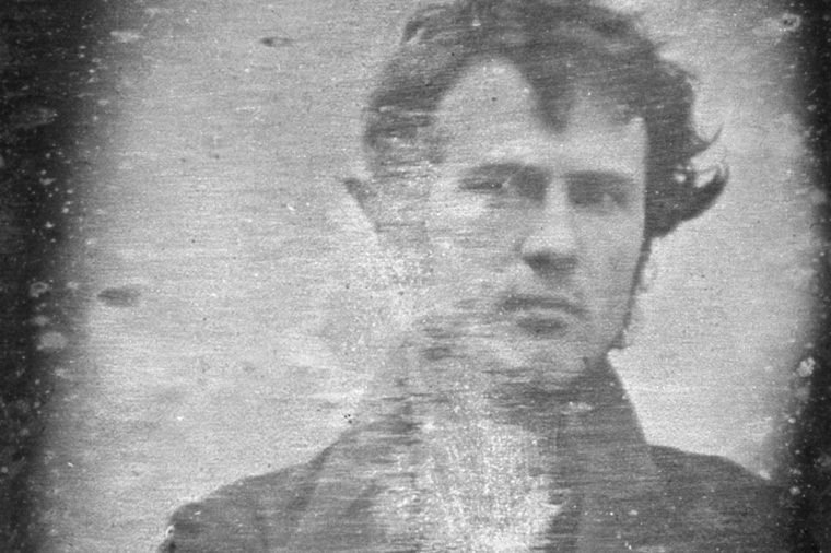 Robert Cornelius, self-portrait believed to be the first light picture ever taken and one of, if not the earliest, existing portrait photographs.