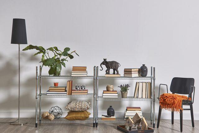use bookshelves for more than books living room home decorating ideas