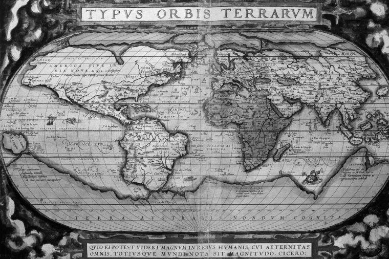 World from Atlas by Abraham Ortelius Theatrum Orbis Terrarum 1570