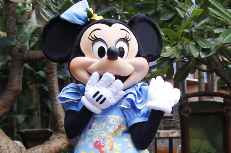 Minnie Mouse Minnie Mouse is pictured at the Aulani Disney Resort, in Kapolei, Hawaii, before President Barack Obama holds a fundraising event