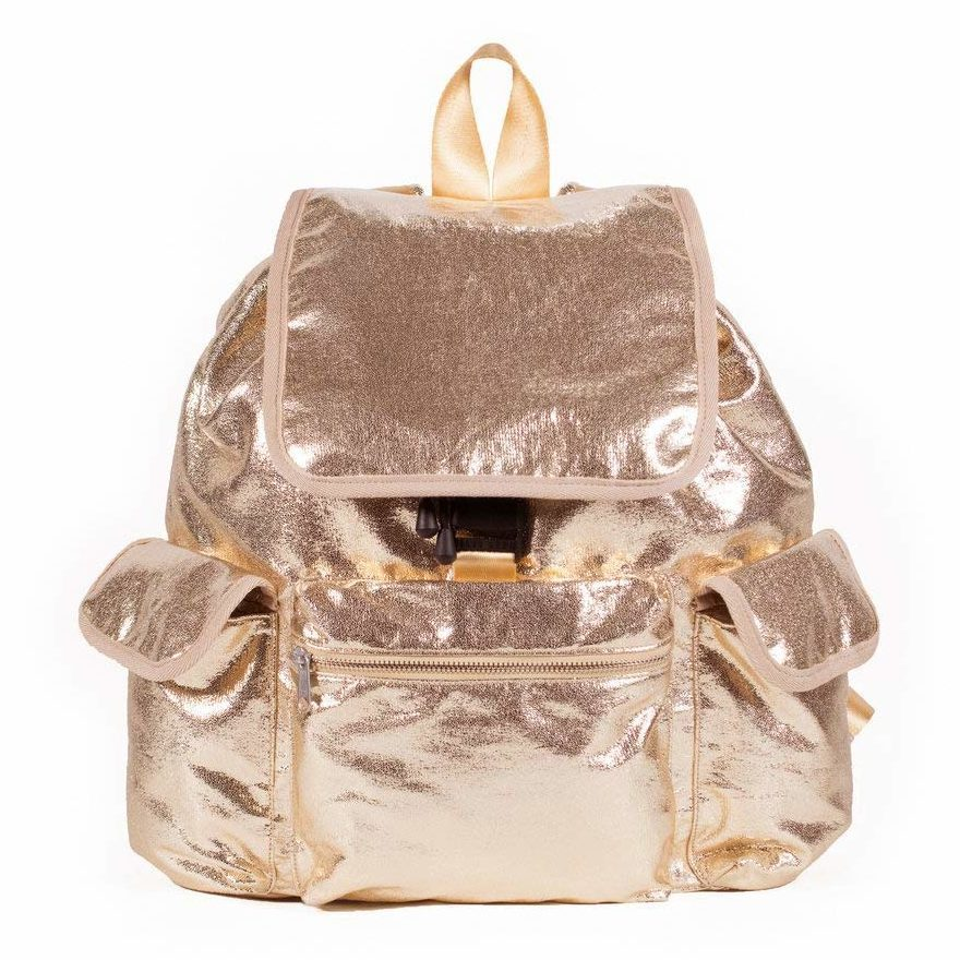 Quilted Koala Adult Backpack: Rose Gold Metallic
