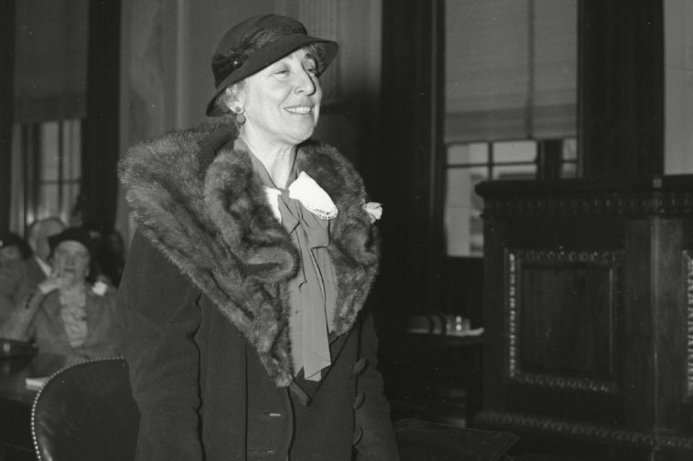 Rankin Jeannette Rankin appears before the Senate Munitons Committee in Washington, D.C., as National Council representative for the prevention of world war on . Rankin, a Republican who became the first member of the U.S. House of Representatives in 1917, serving until 1919, voted against U.S. participation in World War I