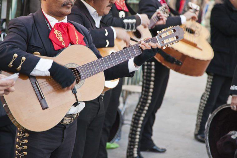 Mariachi spain guitar player