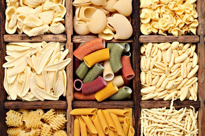 Background texture of pasta.