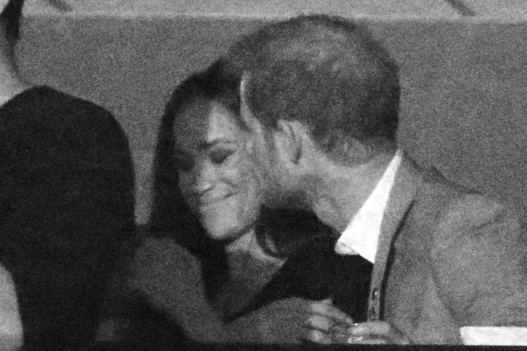 Meghan Markle and Prince Harry at the Air Canada Centre