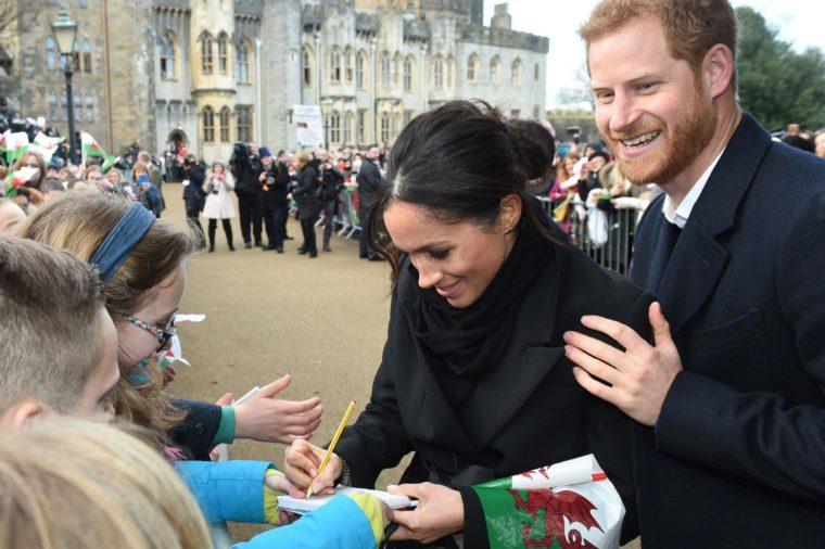 Prince Harry, Meghan Markle at Cardiff Castle
