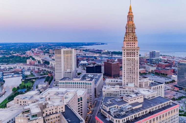Cleveland, Ohio Aerial Landscape