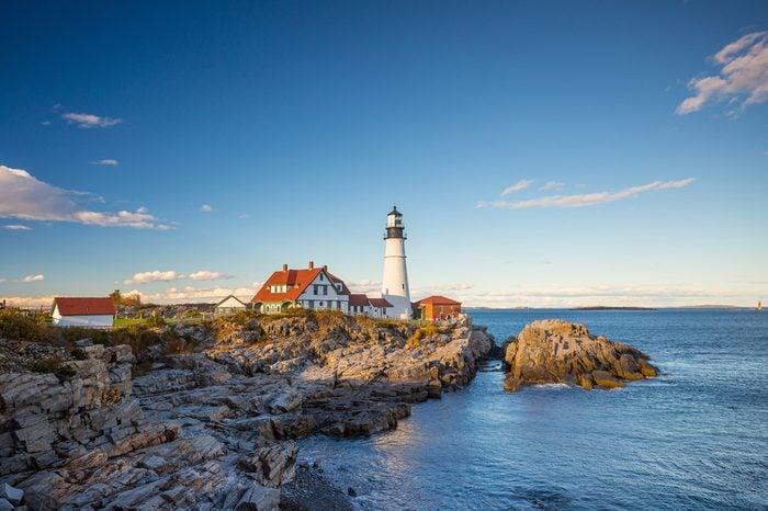 The Portland Head Light in Portland, Maine, USA