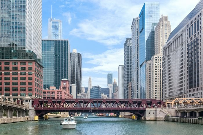 Chicago River in downtown Chicago