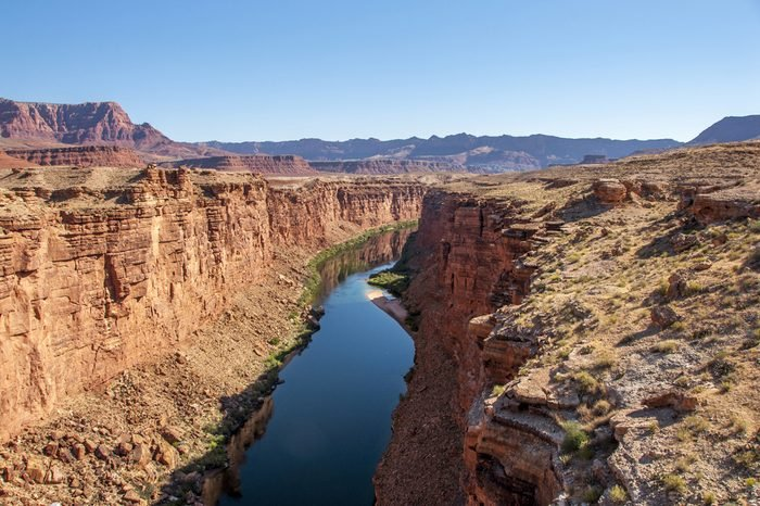 Photograph of the Colorado River as it flows through Marble Canyon prior to entering the infamous Grand Canyon in northern Arizona.
