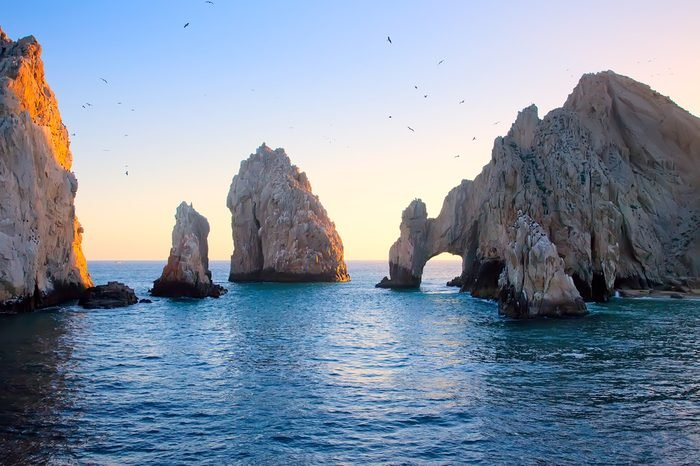 The Arch at Sunset in Cabo San Lucas, Mexico