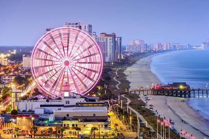 Myrtle Beach, South Carolina, USA city skyline.