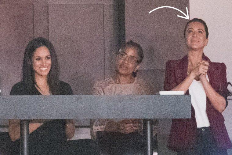 Meghan Markle, Doria Ragland and Jessica Mulroney at the Air Canada Centre
