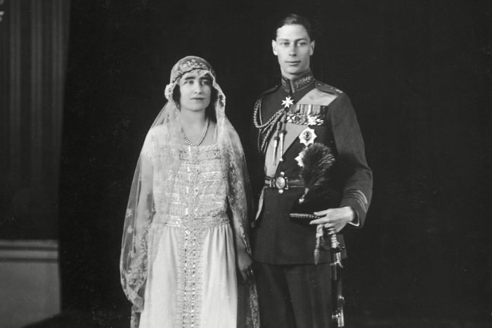 Lady Elizabeth Bowes-lyon and Albert Duke of York Later King George Vi and Queen Elizabeth (then the Queen Mother) Pictured Together On Their Wedding Day On 26th April 1923 1923