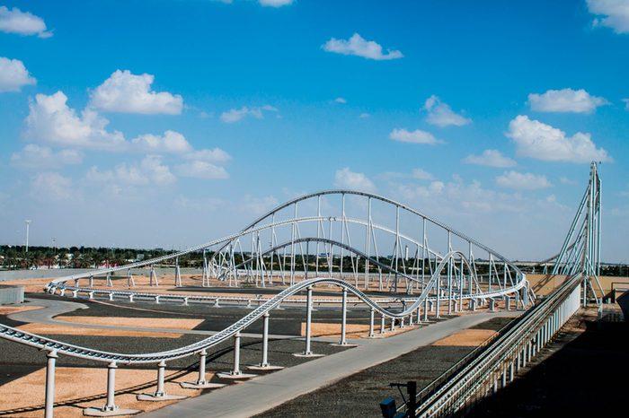 Roller-coaster-at-Ferrari-World-at-Yas-Island-in-Abu-Dhabi