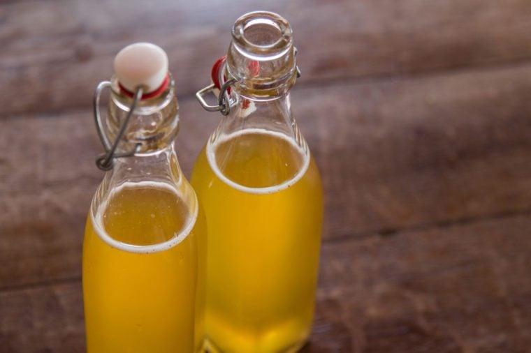 Bottled kombucha