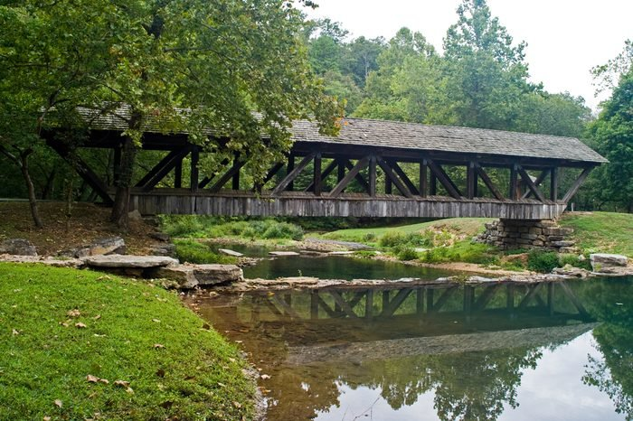 Covered Bridge Dogwood Canyon Park Nature Park-Branson, Missouri