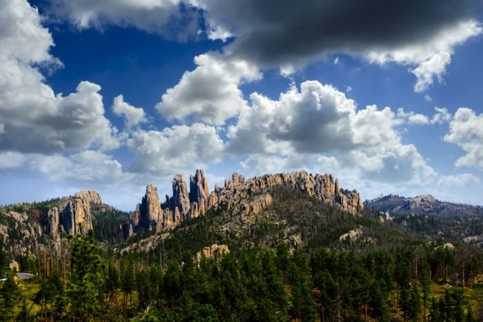 The Pinnacles, a rock formation at Custer State Park, South Dakota