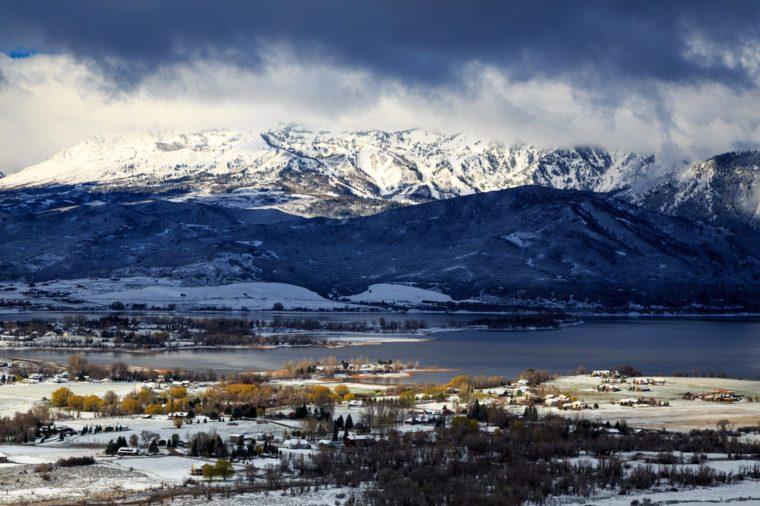 Snpwy morning in Ogden Valley, Utah, USA.