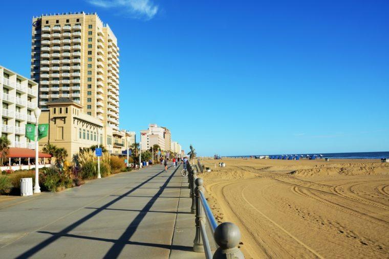 Boardwalk of Virginia Beach VA (USA)