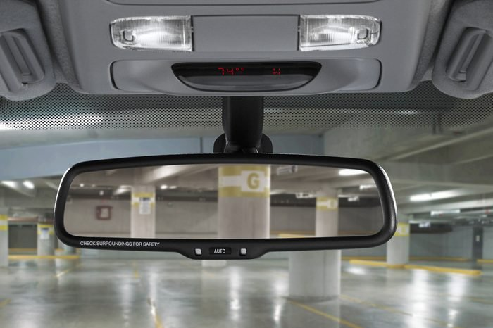 car mirror in parking