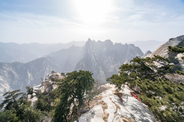The chess pavilion in the mountains Huashan Mountain, China