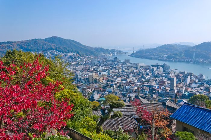 Onomichi city bird's eye view.