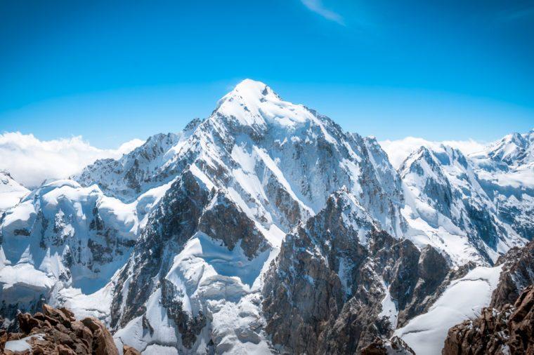 Mountain peak. Everest. National Park, Nepal.