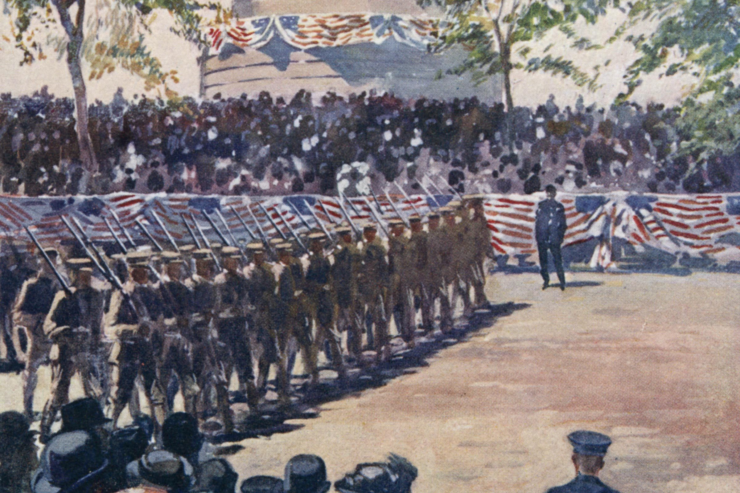 (also Known As Memory Or Memorial Day) Parade to Honour Those Who Died in Wars - Originally the War Between the States Subsequently Other Wars : On Riverside Drive Ny 30-May-10