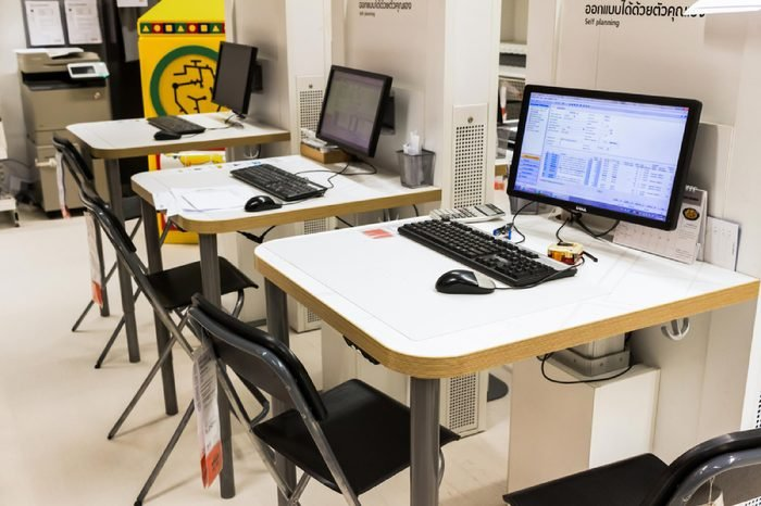 BANGKOK, THAILAND - July 28, 2016: IKEA self planning corner. IKEA is the world's largest furniture retailer. Flat pack furniture are designed to be purchased directly in the self service area.